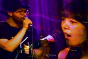 Miho Hatori with Sean Lennon at Brooklyn Bowl photo by Keena Gonzalez