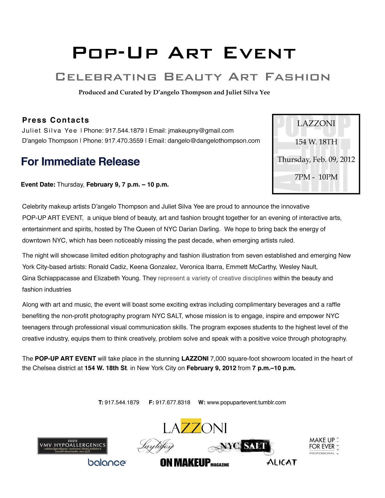 How to write a press release for a fashion event