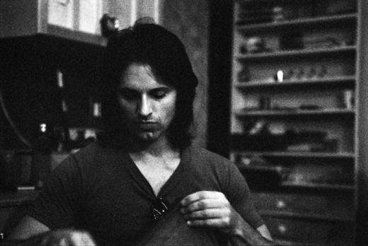 Bryan Bos in Goldenboy's studio image by Keena Gonzalez