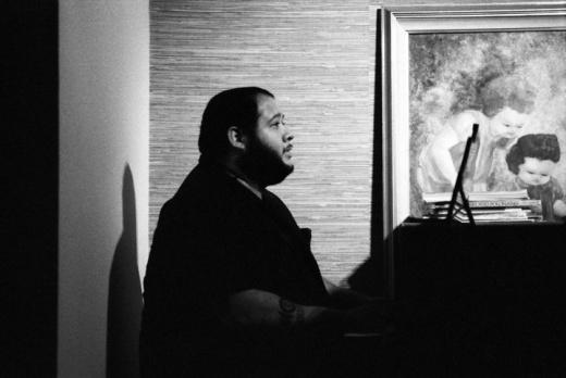 Tony Martinez on piano image by Keena Gonzalez